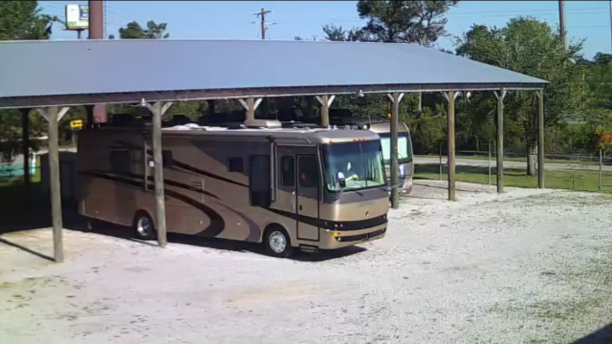 Image 6 of our storage park in Biloxi | Allure RV Park
